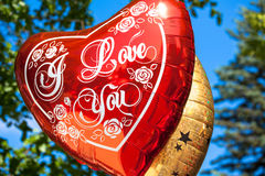 Ballon. With tittle I Love You Stock Photography