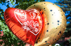 Ballon. With tittle I Love You Royalty Free Stock Photography