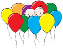 Ballon-Traum Stockfoto