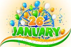 Ballon tricolore avec le drapeau d'Inde Photo libre de droits