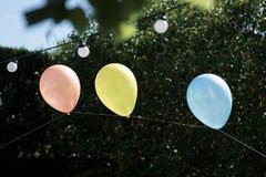 Ballon und Feier Stockbild