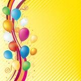 Ballon und Feierhintergrund Lizenzfreie Stockbilder