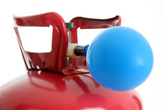 Ballon und Helium Stockfoto