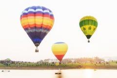 Ballon und Sonnenuntergang Stockfotos