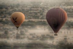 Ballon 3 van de Birmania hete lucht Stock Foto's