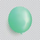 Ballon van de groene vector van het kleuren realistische die ontwerp wordt geïsoleerd trans Stock Afbeelding