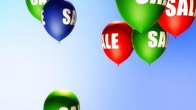 Ballon-Verkauf (Schleife) stock video
