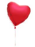 Ballon vermelho do coração Imagem de Stock