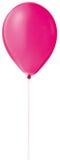 Ballon vermelho do hélio em uma corda Imagens de Stock