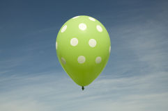 Ballon vert Photographie stock