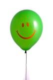 Ballon vert avec le sourire Images libres de droits