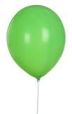 Ballon vert d'isolement sur le fond blanc Photographie stock libre de droits