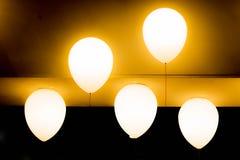 Ballon vijf gloeiend voor verfraait Royalty-vrije Stock Afbeelding