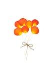 Ballon von der rosafarbenen Blume der Presse Lizenzfreie Stockfotografie
