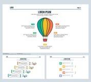 Ballon woda, samolot, ustawia prezentaci obruszenie i Powerpoint szablon Obraz Stock