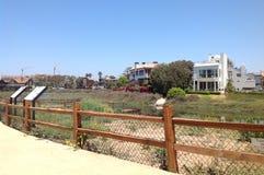 Ballona盐水湖,德拉瑞码头,洛杉矶,加利福尼亚 库存照片