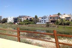 Ballona盐水湖,德拉瑞码头,洛杉矶,加利福尼亚 免版税库存图片