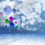 Ballonachtergrond. Royalty-vrije Stock Foto