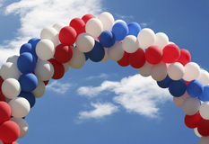 Ballonbogenhintergrund Lizenzfreies Stockbild