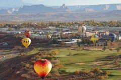 Ballone über Seite Lizenzfreie Stockfotografie