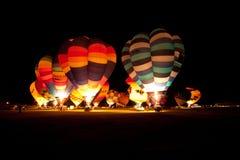 Ballone über Waikato Stockbilder