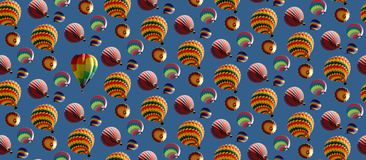 Ballone amok Stockfotografie