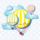 Ballone auf dem Himmel Lizenzfreies Stockbild