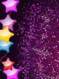 Ballone auf einem purpurroten Mosaikhintergrund Lizenzfreies Stockbild