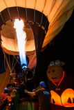 Ballone, Ballone im Himmel, Ballon-Festival, internationale Ballon-Fiesta 2017, Chiang Rai, Thailand Singhapark Lizenzfreies Stockfoto