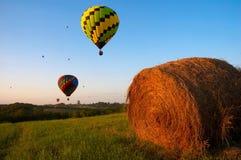 Ballone über Iowa Stockfotos