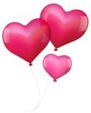 Ballone in der Liebe mit Baby Stockbild