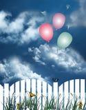 Ballone in der Luft Stockfotografie