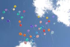 Ballone in der Luft Lizenzfreies Stockbild
