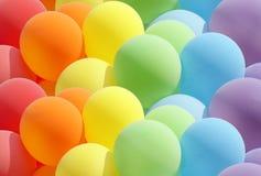Ballone, die herrliche Farben zeigen Stockfotografie