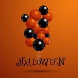 Ballone für Halloween-Partei mit Typografie Vect Lizenzfreie Stockfotografie