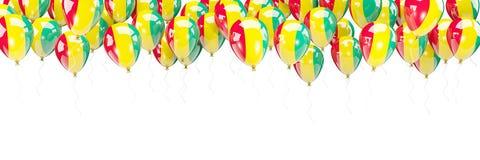 Ballone gestalten mit Flagge der Guine stock abbildung