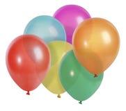 Ballone getrennt auf Weiß Stockbild