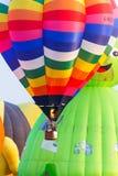 Ballone im Himmel, Ballon-Festival, internationale Ballon-Fiesta 2017 Singhapark Stockfotos