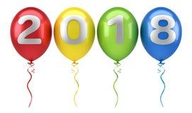 Ballone mit Text 2018 Lizenzfreie Stockfotografie