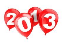Ballone mit Zahljahr Lizenzfreie Stockfotos