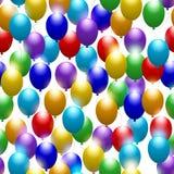 ballone Nahtloser festlicher Hintergrund Grußkarte mit Jahrestag oder Geburtstag Vektor lizenzfreie abbildung
