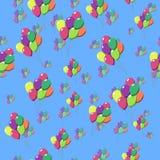 ballone Nahtloses Muster Stockfoto