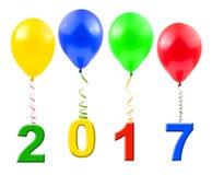 Ballone und 2017 Lizenzfreie Stockfotos