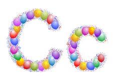 Ballone und Confetti â Lett Lizenzfreie Stockbilder