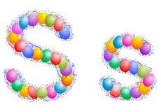 Ballone und Confetti â Zeichen S Lizenzfreie Stockfotos