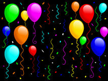 Ballone und Confetti [1] Lizenzfreie Stockbilder