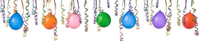 Ballone und Confetti Lizenzfreies Stockbild