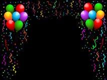 Ballone und Confetti Stockfotos