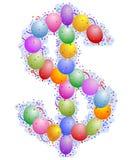 Ballone und Confetti - Dollar singen Stockbilder