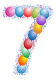 Ballone und Confetti Nr. 7 Stockfoto